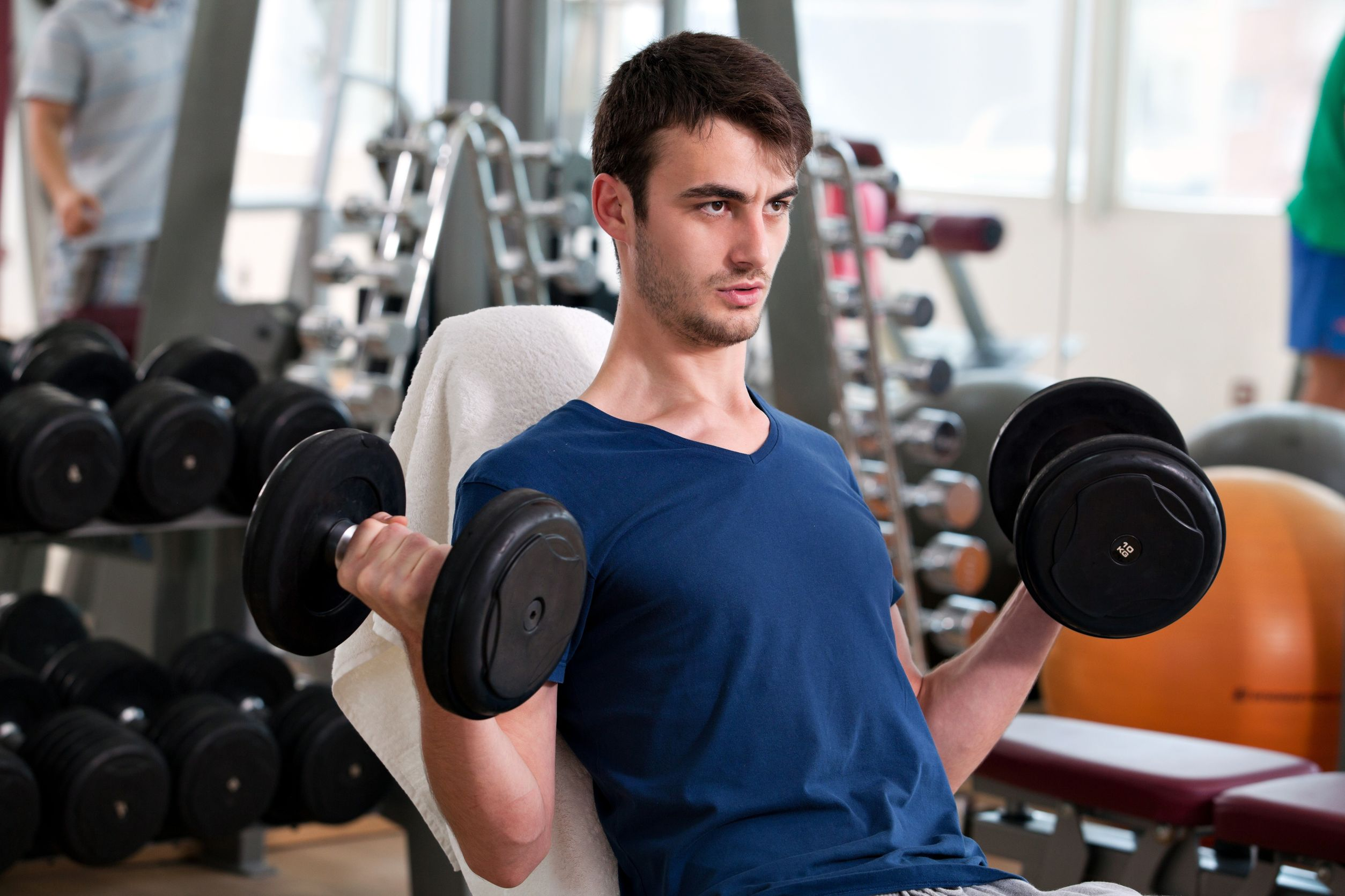 Student Working Out Neither Intimidating Nor Intimidated