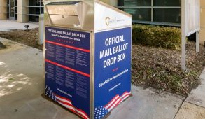 Ballot box on street