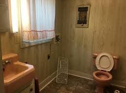 Old Bathroom With Toilet