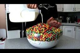 Cereal in big bowl