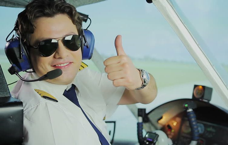 Pilot giving thumbs up