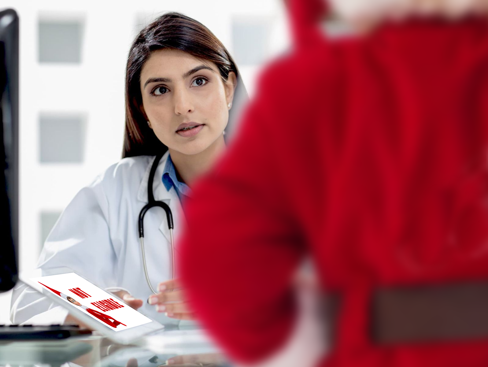 Doctor in a conversation with Santa Claus