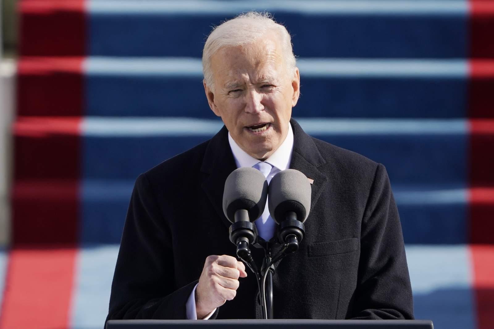 Joe Biden speaking to crowd