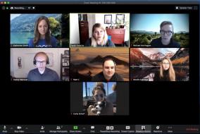 Screenshot of a Zoom meeting.