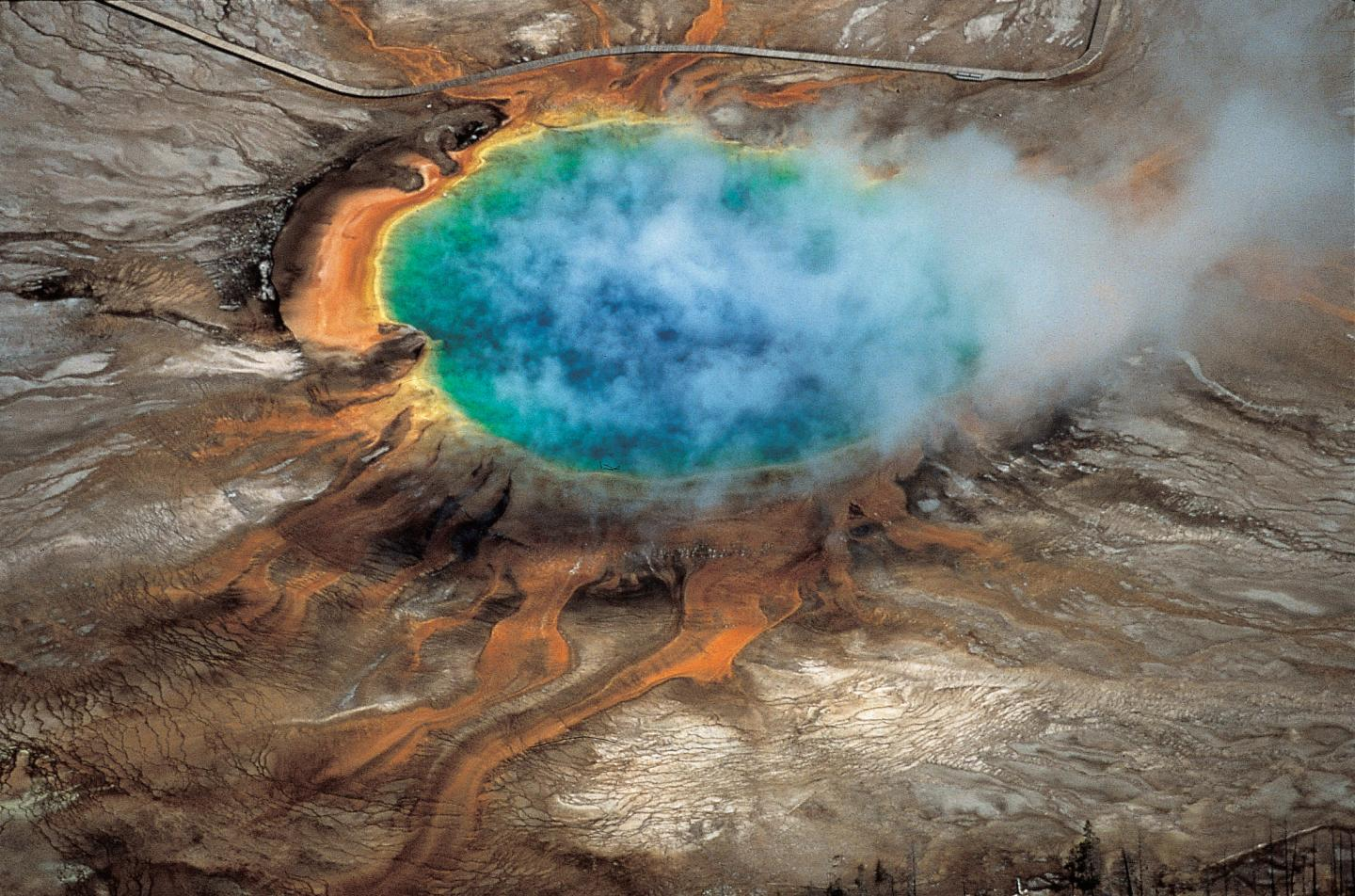 Arial view of Yellowstone