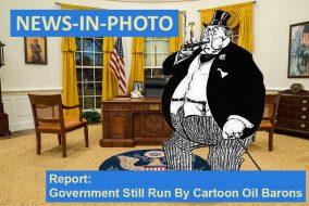 Cartoon oil baron