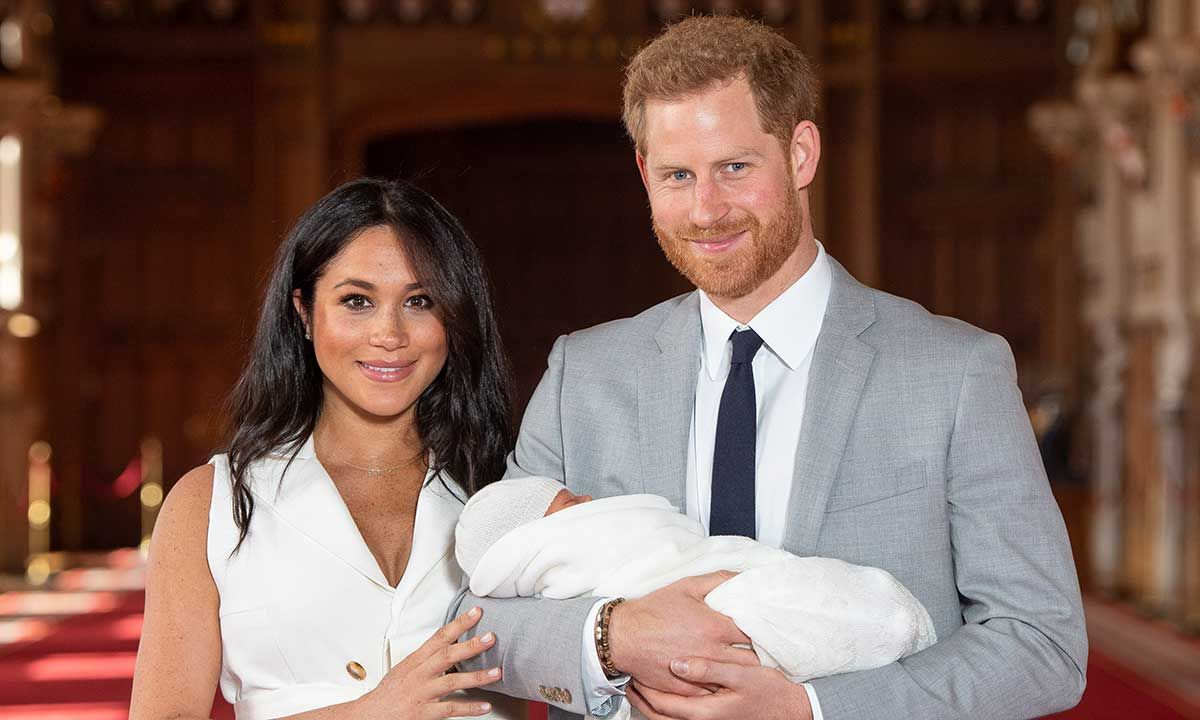 The Duke and Duchess of Sussex, Harry and Meghan, with son