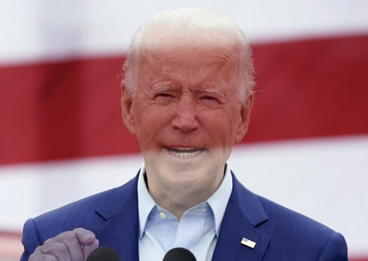 Image of President Biden photoshopped with lower opacity