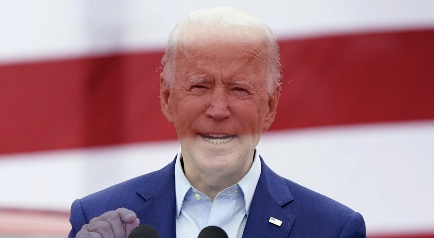 Image of President Biden photoshopped with lower opacity